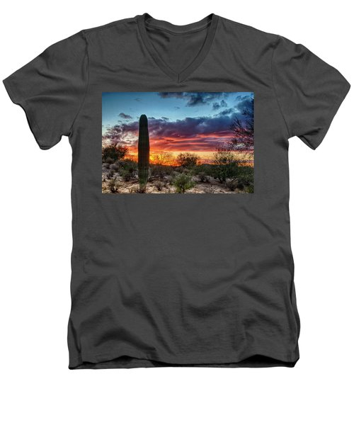 Lone Cactus Men's V-Neck T-Shirt