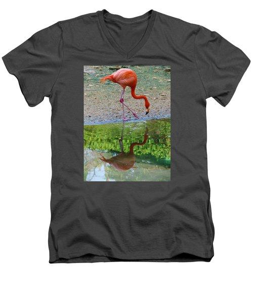 Lone Flamingo Men's V-Neck T-Shirt