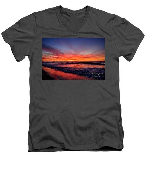 Lone Gull Men's V-Neck T-Shirt