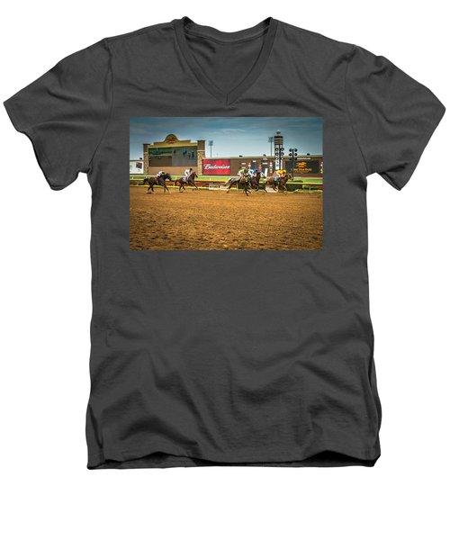 Lone Star Park Grand Prairie Texas Men's V-Neck T-Shirt