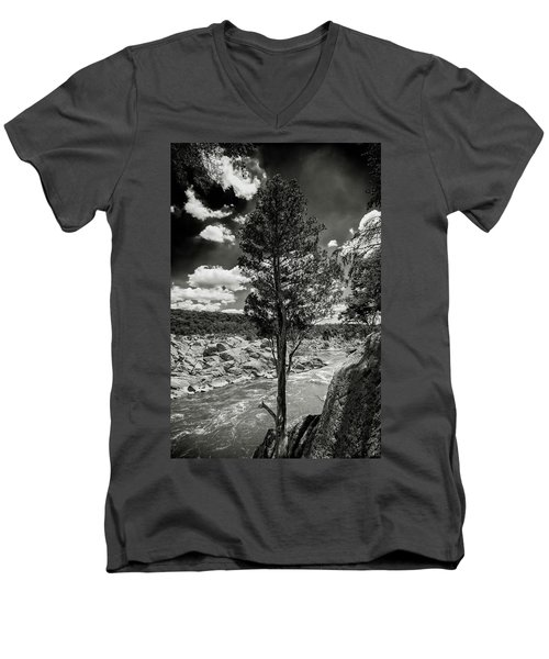 Lone Tree Men's V-Neck T-Shirt by Paul Seymour