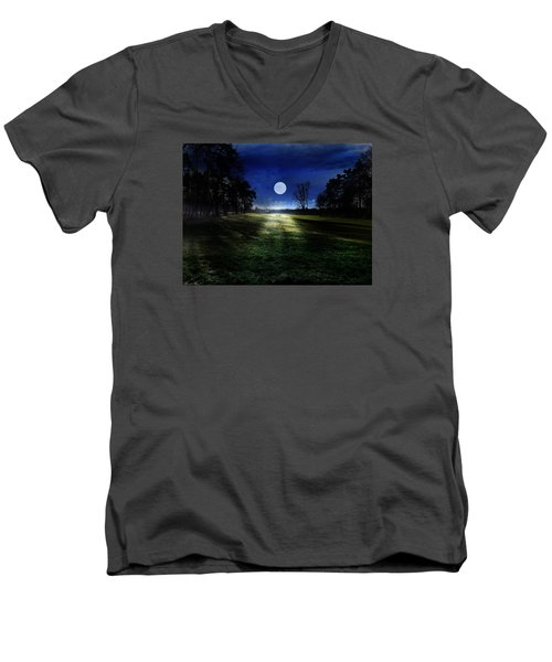 Loneliness Men's V-Neck T-Shirt by Bernd Hau