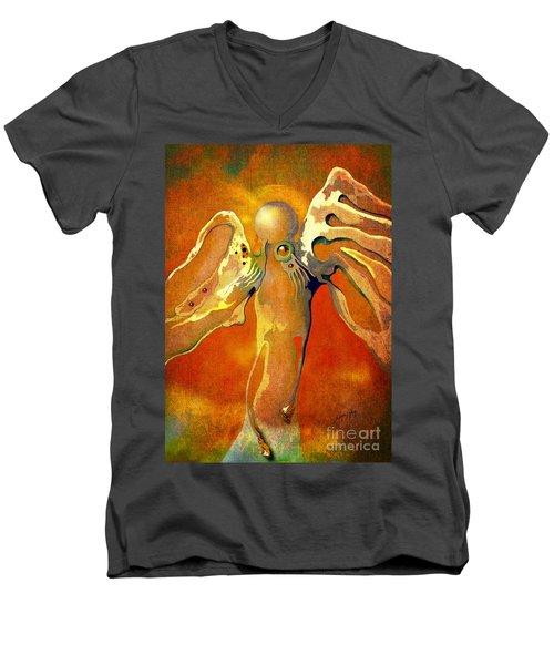 Lonely Angel Men's V-Neck T-Shirt by Alexa Szlavics