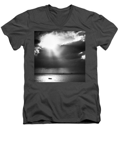 Lonely At Sea Men's V-Neck T-Shirt