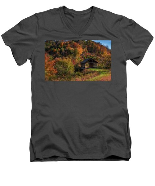 Lonely Bridge Men's V-Neck T-Shirt