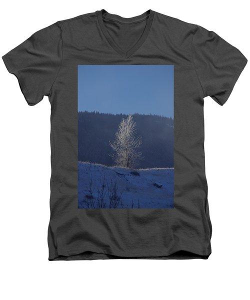 Lonely Frosty Tree Men's V-Neck T-Shirt