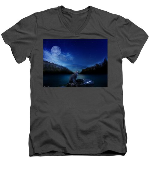 Lonely Hunter Men's V-Neck T-Shirt