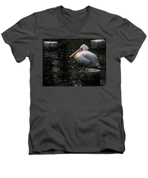 Lonely Pelican Men's V-Neck T-Shirt