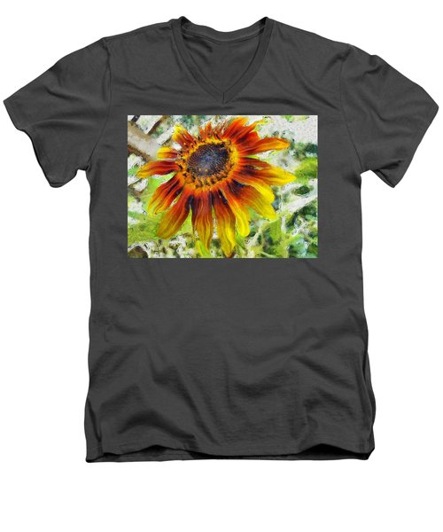 Lonely Sunflower Men's V-Neck T-Shirt