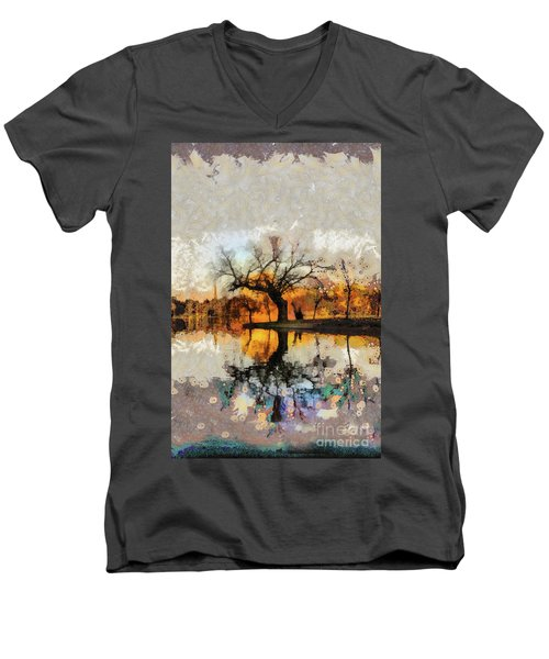 Lonely Tree And Its Thoughts Men's V-Neck T-Shirt