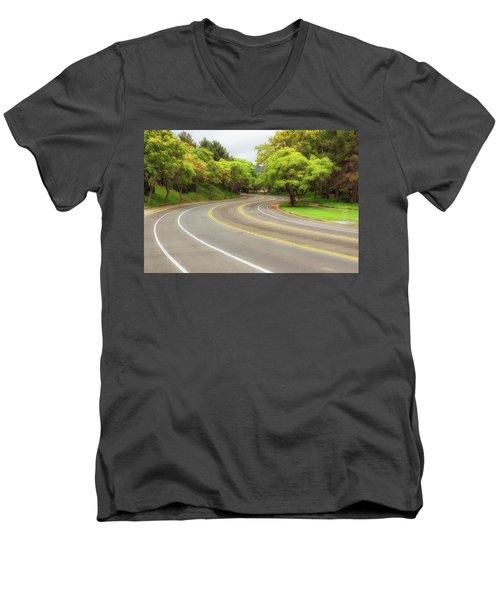 Long And Winding Road Men's V-Neck T-Shirt