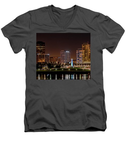 Long Beach A Chip In Time Color Men's V-Neck T-Shirt