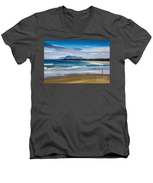 Long Beach, B.c Men's V-Neck T-Shirt