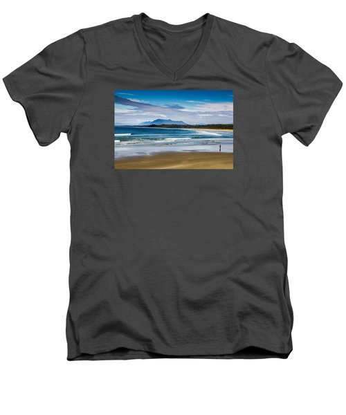 Long Beach, B.c Men's V-Neck T-Shirt
