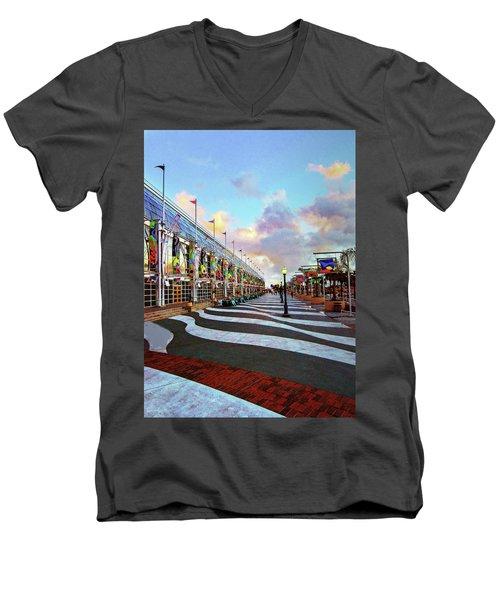 Long Beach Convention Center Men's V-Neck T-Shirt
