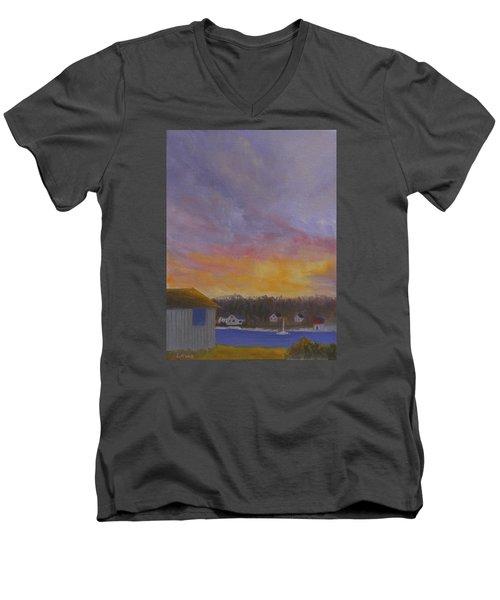 Long Cove Sunrise Men's V-Neck T-Shirt