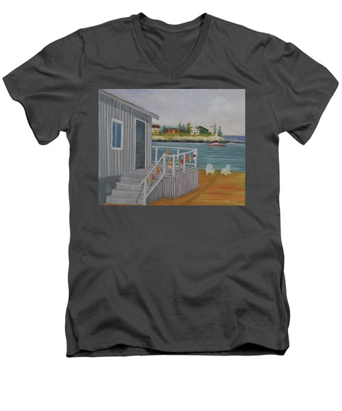Long Cove View Men's V-Neck T-Shirt