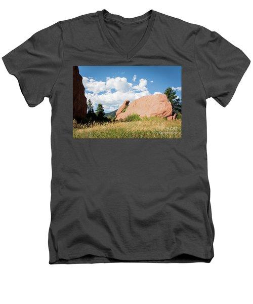 Long Ears Men's V-Neck T-Shirt by Deborah Klubertanz