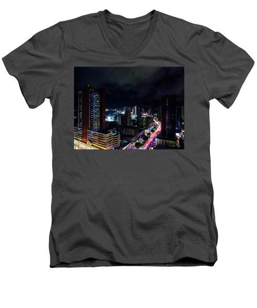 Long Exposure Men's V-Neck T-Shirt