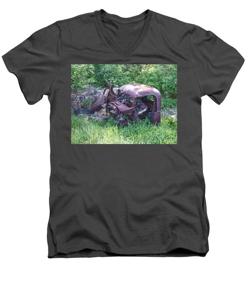 Men's V-Neck T-Shirt featuring the photograph Long Forgotten 2808 by Guy Whiteley