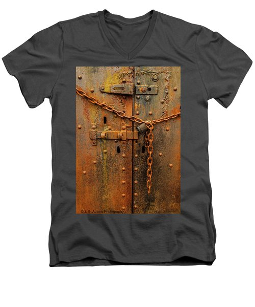 Long Locked Iron Door Men's V-Neck T-Shirt