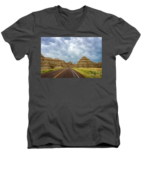 Long Lonesome Highway Men's V-Neck T-Shirt