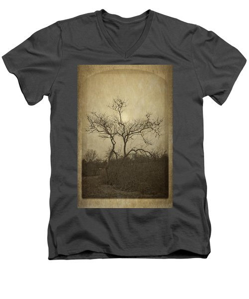 Long Pasture Wildlife Perserve. Men's V-Neck T-Shirt
