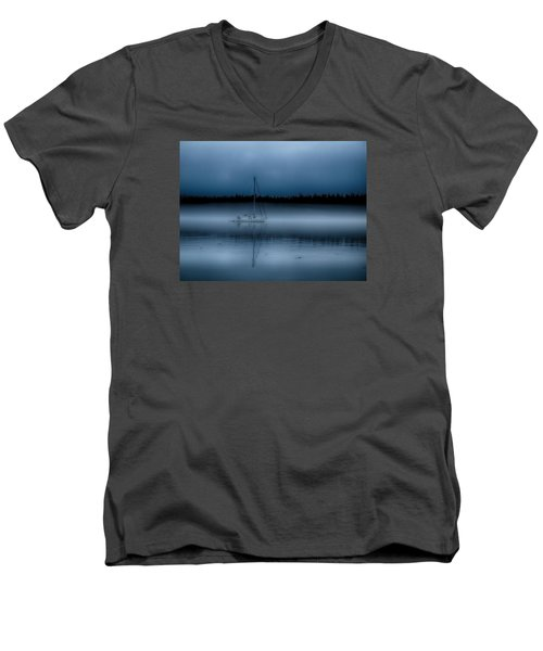 Long Ways From Nowhere Men's V-Neck T-Shirt by Rob Wilson
