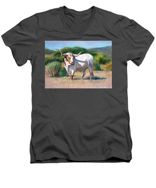 Longhorn Bull Men's V-Neck T-Shirt