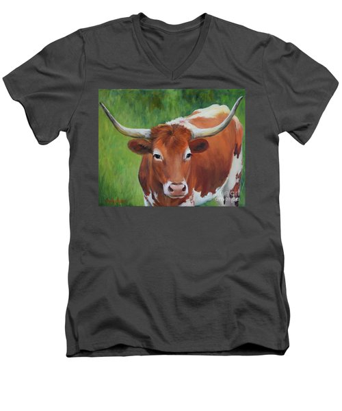 Longhorn I Men's V-Neck T-Shirt
