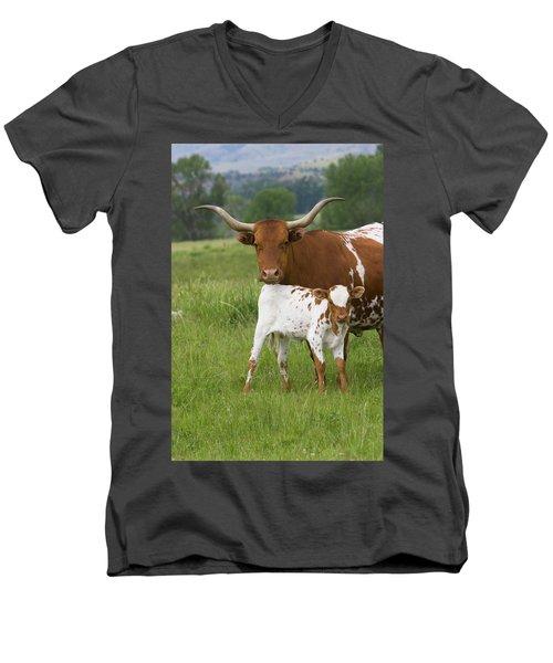 Longhorns Men's V-Neck T-Shirt