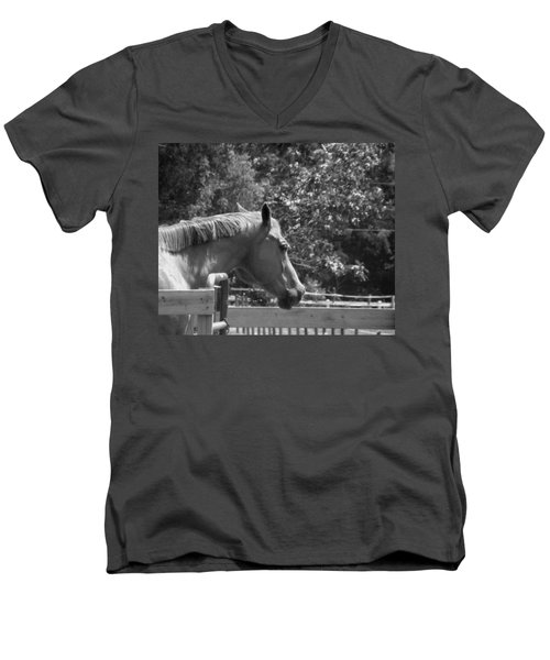 Men's V-Neck T-Shirt featuring the photograph Longing by Sandi OReilly