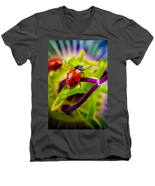 Look At The Colors Over There. Men's V-Neck T-Shirt