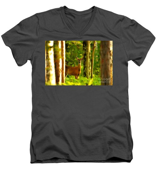 Look Deep Into Nature Men's V-Neck T-Shirt