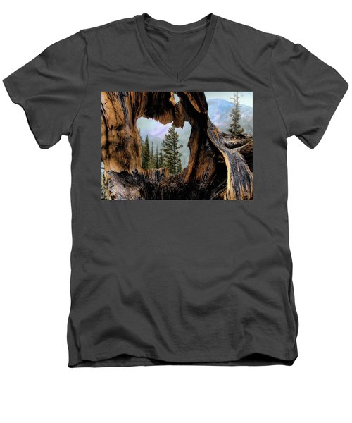 Men's V-Neck T-Shirt featuring the photograph Look Into The Heart by Jim Hill