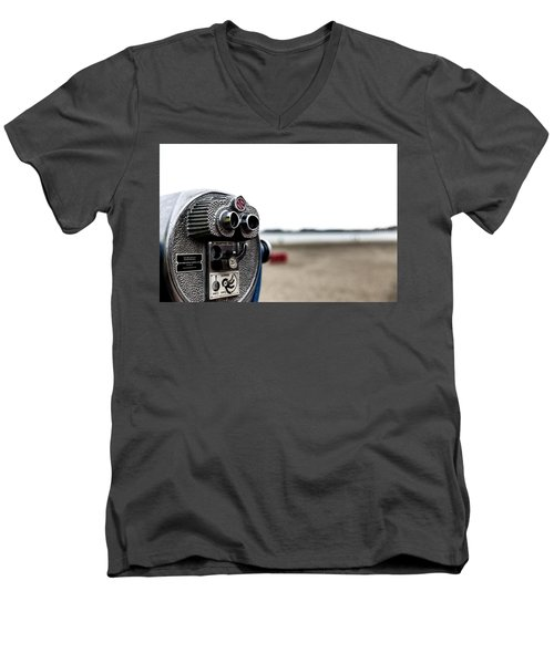 Men's V-Neck T-Shirt featuring the photograph Look  by Lora Lee Chapman