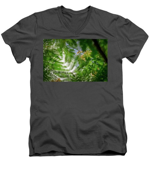 Look To The Sky Men's V-Neck T-Shirt by Stefanie Silva