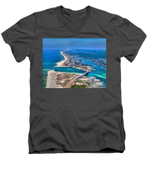 Looking West Across Perdio Pass Men's V-Neck T-Shirt