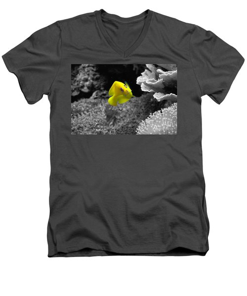 Men's V-Neck T-Shirt featuring the photograph Looking At You by Deniece Platt