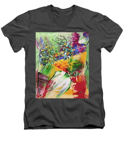 Looking Beyound The Present Men's V-Neck T-Shirt by Sima Amid Wewetzer