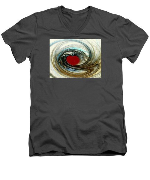 Men's V-Neck T-Shirt featuring the photograph Looking Deep Into Your Heart by Merton Allen