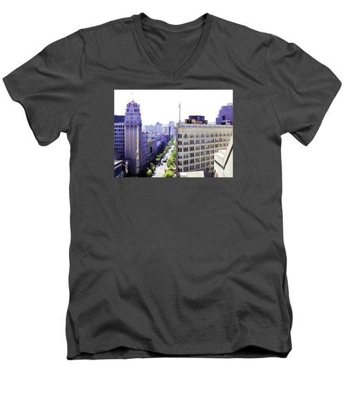 Looking Down Market Men's V-Neck T-Shirt
