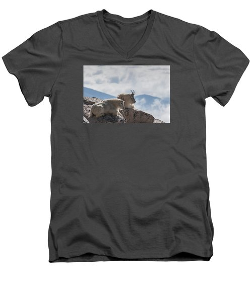 Looking Down On The World Men's V-Neck T-Shirt by Gary Lengyel