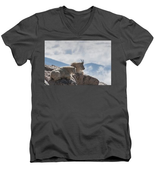 Looking Down On The World Men's V-Neck T-Shirt