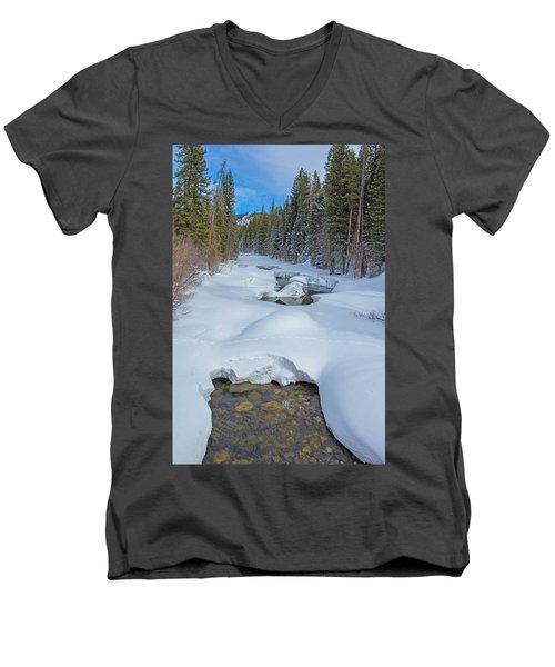 Looking Down The Elk Men's V-Neck T-Shirt