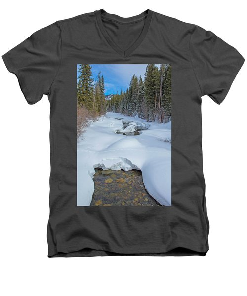 Looking Down The Elk Men's V-Neck T-Shirt