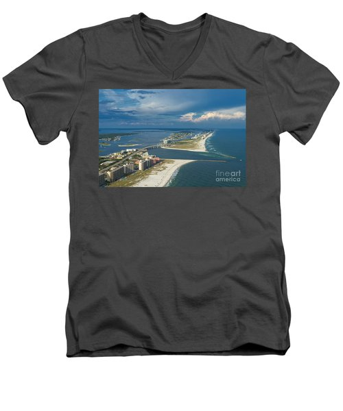 Looking East Across Perdio Pass Men's V-Neck T-Shirt