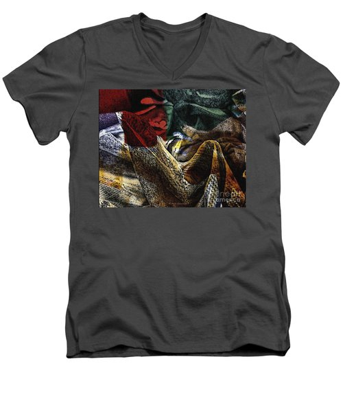 Men's V-Neck T-Shirt featuring the photograph Looking For Answers by Kathie Chicoine