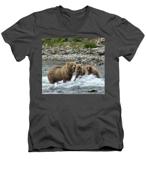 Looking For Sockeye Salmon Men's V-Neck T-Shirt