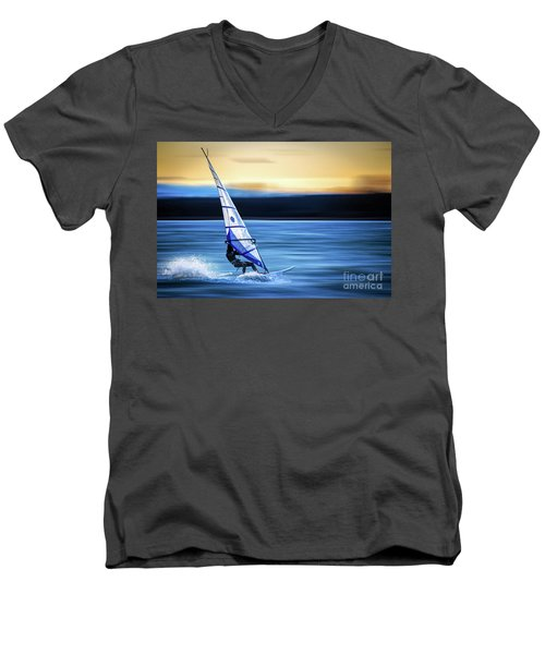 Men's V-Neck T-Shirt featuring the photograph Looking Forward by Hannes Cmarits